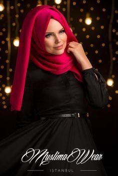Chiffon scarf with decorative silk tassel. Measures 69'' X 31'' or 175 cm x 78 cm Fuchsia color