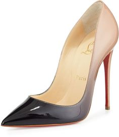 Christian Louboutin So Kate Degrade Red Sole Pump, Black/Nude #shoes