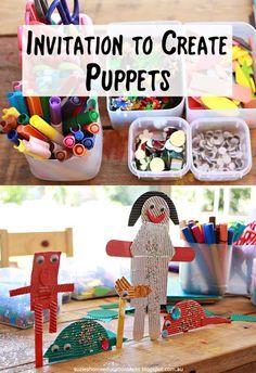Suzie's Home Education Ideas: Invitation to Create - Puppets