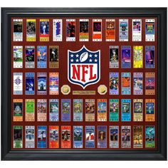 "Highland Mint 36"" x 40"" Super Bowl 51 Ticket Collection Gold Coin Frame - $749.99"