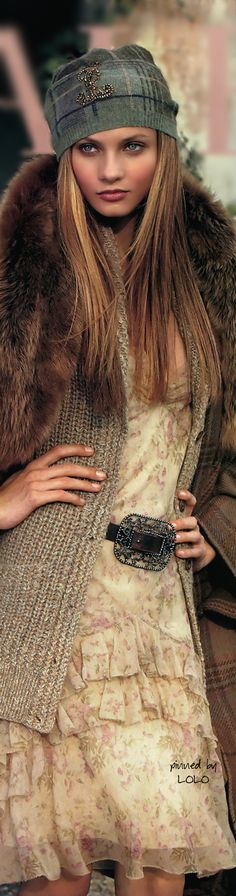 Anna Selezneva for Ralph Lauren...Shopping in Paris | LOLO❤︎