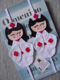 Marcador de páginas Kokeshi enfermeira                                                                                                                                                                                 Mais
