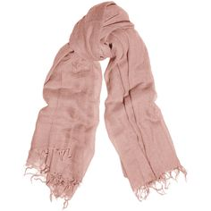 Chan Luu Cashmere and silk-blend scarf ($195) ❤ liked on Polyvore featuring scarves, accessories, pink and citizens of humanity