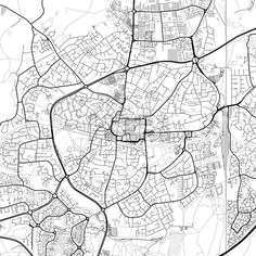 Downtown vector map of Crawley. Very detailed version for infographic and marketing projects. This map of Crawley, England, contains typical landmarks... ... #download #map #infographic  #marketing #travel #city #germany #german# #beautiful #map #communication #design #background #hebstreit