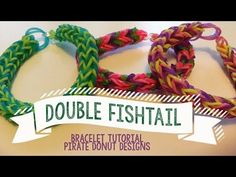 Double Fishtail rainbow loom bracelet tutorial