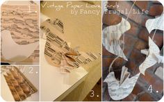 Fancy Frugal Life: 3 Vintage Music Paper Wedding Projects