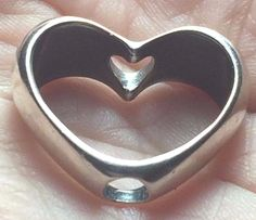 Authentic Trollbeads IN YOUR HEART 12915 Troll Bead Trollbead Love charm Silver #Trollbeads #Heart #love