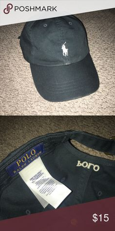 22174358 Polo Ralph Lauren Black Hat Slight wear Same day shipping Offers accepted  Polo by Ralph Lauren Accessories Hats