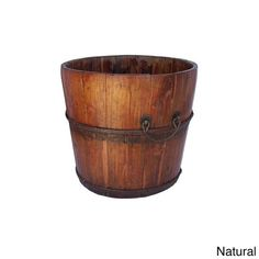 Wood Wooden Planter Water Bucket Vintage Antique Rustic Patio Furniture Barrels