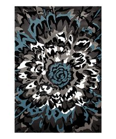 Take a look at this Gray & Blue Large Flower Rug today!