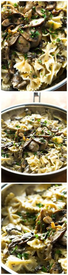 Creamy Mushroom Pasta - Favorite Fall recipe for dinner!  Make this this week and your family will love you!!