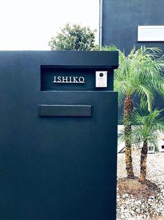 施工写真 Signage Light, Property Design, Exterior Design, Outdoor Decor, Garden, Home Decor, Image, Door Bells, Walls