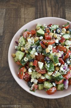 Mediterranean Chickpea Salad | A Teaspoon of Happiness