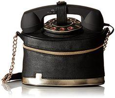Betsey Johnson Telephone Cross Body Bag, Black, One Size: Handbags: Amazon.com
