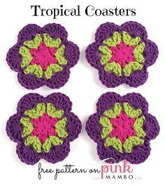 Crochet Tropical Coasters