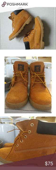 Timberland Boots 6 inch classic Timberland boots youth size 7 fit women's 9 Timberland Shoes Winter & Rain Boots