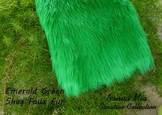 Plush Shag Faux Fur   Emerald Green         Newborn by NonnaMiaCC, $19.00 FUR SALE 35% OFF Regular Prices on ALL FURS  Mongolian Fur Reg. $21, Shag Fur Reg. $19,  Super Soft Shaggy Fur ReG. $15, Frosted Mongolian Reg. $22,  Use Coupon Code 'NONNAMIA35' https://www.etsy.com/shop/NonnaMiaCC?ref=si_shop