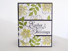 Stampin Up - Secret Garden - Easter Card - Post By Demonstrator Brandy Cox