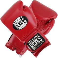 Cleto Reyes Training Velcro Boxing Gloves - Red
