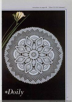 Crochet pineapple doily #03 ♥LCD♥ with diagram. You must scroll down to fin the corresponding diagram ---- Trabajos de piñas a crochet con diagram.