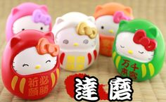 Hello Kitty The Japan Doll Collection -- Daruma Kitty