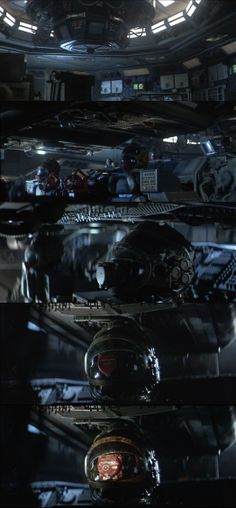 """Ridley Scott's great attention to every minute detail in the spaceship gives this film a realistic portrait of future space travel rather the staged environments that viewers often see in low-budget sci-fi films. Showing all this means that we are in for a serious film in spite of the """"horror"""" genre. Alien 1979"""