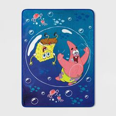 Small Canvas Paintings, Small Canvas Art, Cute Paintings, Mini Canvas Art, Acrylic Painting Canvas, Diy Painting, Spongebob Painting, Cartoon Painting, Bubble Drawing