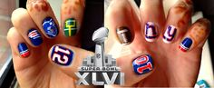 Super Bowl nails!