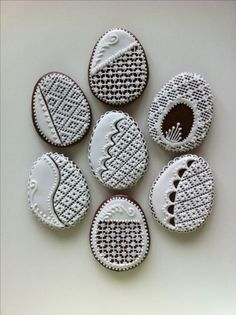 Royal Icing, Biscotti, Cookie Decorating, Easter Eggs, Folk, Anna, Cookies, Decorated Cookies, Wafer Cookies