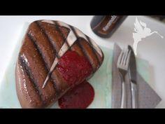 Steak Torte zum Vatertag - Bier Brownie in Steakform - Tbone Steak Kuchen - Kuchenfee - YouTube