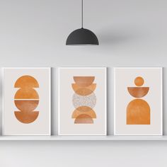 Modern Prints, Mid-century Modern, Contemporary, Living Room Prints, 3 Piece Wall Art, Abstract Wall Art, Make It Yourself, Creative, Artworks