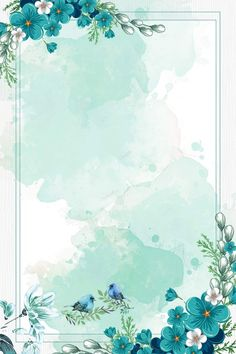 chinese style watercolor blue flowers border background vector Wedding Flower Tips Flowers are symbo Flower Background Wallpaper, Cute Wallpaper Backgrounds, Pretty Wallpapers, Flower Backgrounds, Background Patterns, Pastel Background, Chinese Background, Vector Background, Background Flores