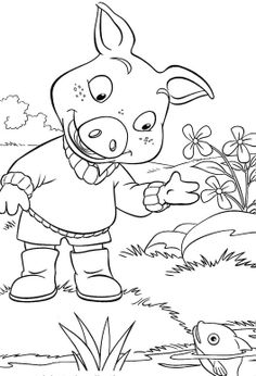Jakers Piggley Winks And Fish Coloring Pages