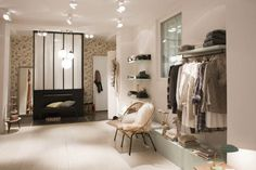 Boutique Bonpoint YAM In Rue de Tournon in Paris. Interior design by Justine Bazus With great Help from Muriel Bardinet for all the antics purchase.