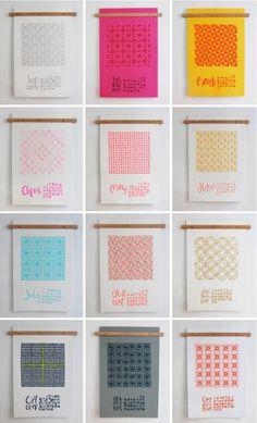 linda & harriett 2013 quilt calendar   Design*Sponge