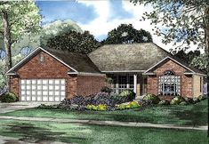 House Plan 62273 | Plan with 1605 Sq. Ft., 3 Bedrooms, 2 Bathrooms, 2 Car Garage