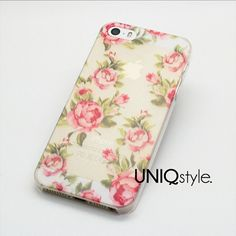 Semi #transparent #floral pattern phone case for #iPhone by Uniqstyle, $7.49