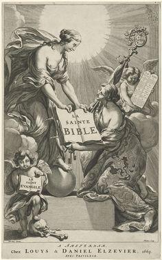 Titelpagina voor La Sainte Bible, 1669, Theodor Matham, 1669 (Rijksmuseum)
