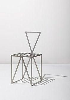 """Scott Burton · Rare """"Café Chair"""", ca. 1987"""