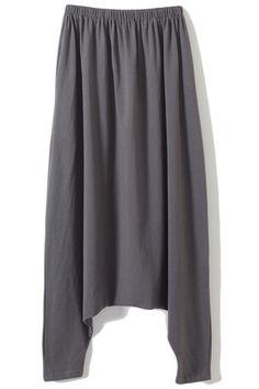 Loose Grey Harem Pants #Romwe #Harem #DropCrotch