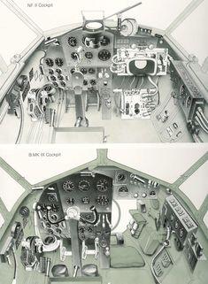 Ww2 Aircraft, Military Aircraft, Luftwaffe, De Havilland Mosquito, Aircraft Interiors, Ww2 Planes, Vintage Airplanes, Flight Deck, Mosquitoes