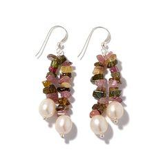 Jay King Tourmaline & Cultured Pearl Earrings