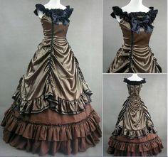 Marie Antoinette dress Victorian Halloween costume 18th century Civil war brown #Dress
