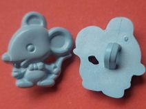 7 Kinderknöpfe hellblau 17mm x 15mm (3572-3)Knöpfe