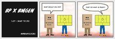 BP vs #bmgen 1.07 - What to Do - now @ #BMGen Comic shttp://materiais.bmgenbrasil.com/bmgen-comics-en #custdev #leanstartup