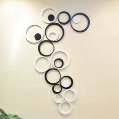 CA Fashion Decor 5 Circles Ring Indoor 3D Wall Art Home Decoration (Black (5 circles from the largest to smallest)) -- Check this awesome image  : home diy wall