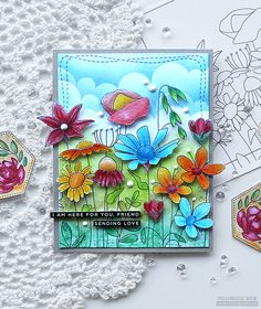 SSS Crafty Hugs Release Blog Hop – Day 2 | RejoicingCrafts Deco Foil, Simon Says Stamp Blog, Miss You Cards, Love Stamps, Card Making Techniques, Fall Cards, Card Making Inspiration, Flower Cards, I Card