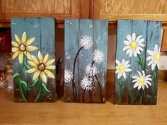 Pallet painting Wood Plank Art, Wood Pallet Signs, Pallet Painting, Painting On Wood, Stained Glass Flowers, Sunflower Art, Wooden Art, Picture On Wood, Painted Signs