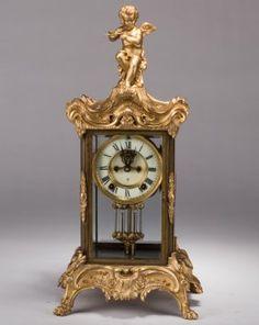 Gilt Bronze Crystal 'angel' Shelf Clock