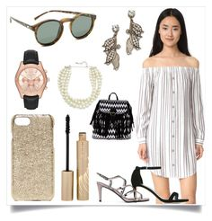 """""""I don't do fashion, I am fashion"""" by denisee-denisee ❤ liked on Polyvore featuring Wayf, Le Specs, Lulu Frost, Valenz Handmade, Stila, MICHAEL Michael Kors, Kenneth Jay Lane, Boohoo and Stuart Weitzman"""